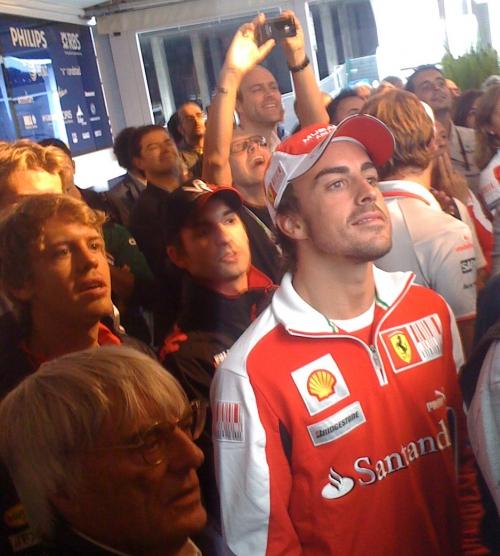 на праздновании 300-х сотого Гран-при Рубенса Баррикелло