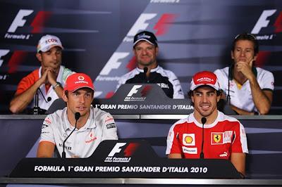 пресс-конференция в четверг на Гран-при Италии 2010