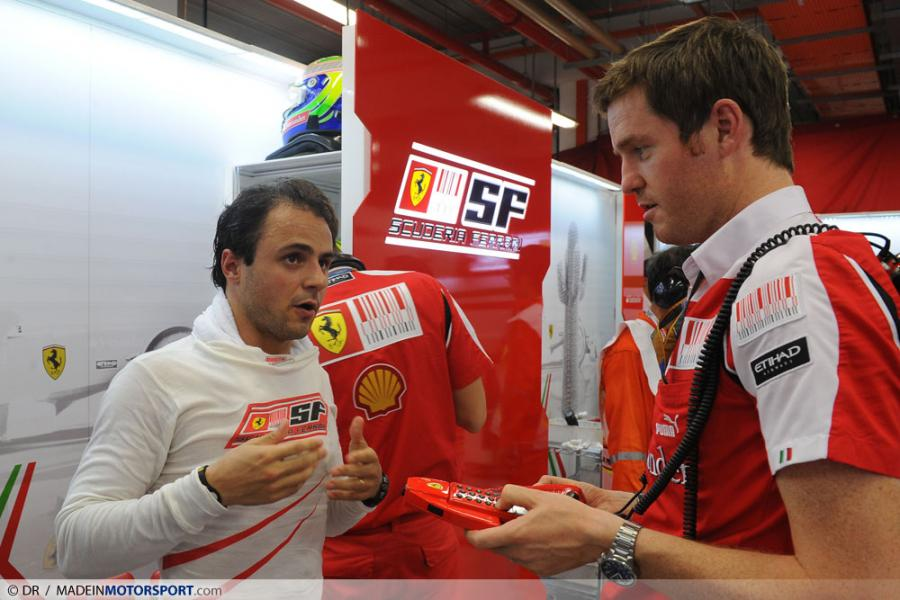 Фелипе Масса и Роб Смедли на Гран-при Сингапура 2010