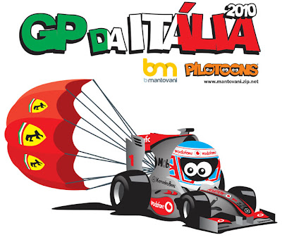 Дженсон Баттон pilotoons Гран-при Италии 2010