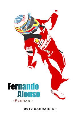 Фернандо Алонсо одерживает победу за Ferrari на Гран-при Бахрейна 2010