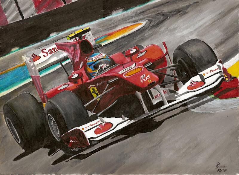 Фернандо Алонсо Ferrari Валенсия Гран-при Европы 2010