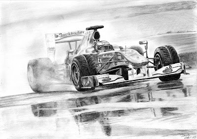 Ferrari Фернандо Алонсо в дождь