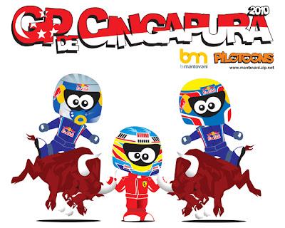 pilotoons Гран-при Сингапура 2010