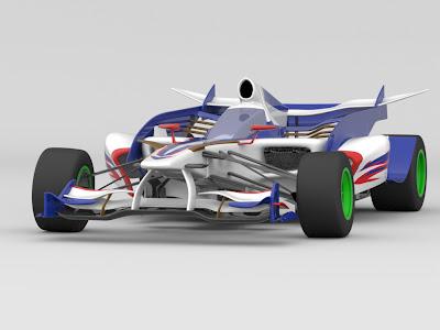 необычный арт болида Формулы-1 другой вид