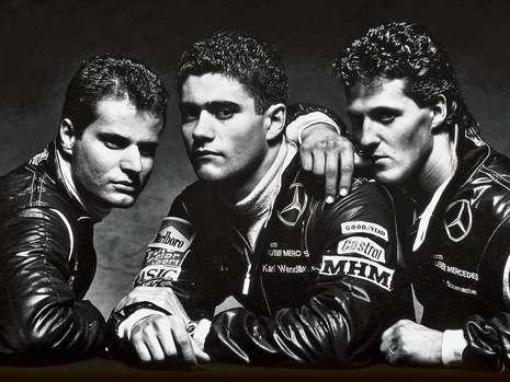 Fritz Kreutzpointner Karl Wendlinger and Michael Schumacher Mercedes Sportscar team 1990s