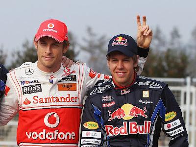 Дженсон Баттон и Себастьян Феттель на Гран-при Кореи 2010