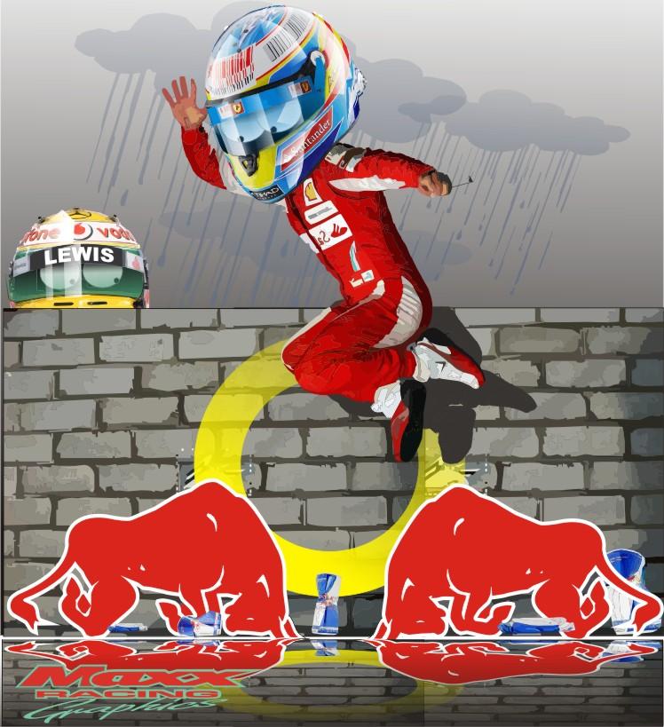 Фернандо Алонсо и Льюис Хэмилтон берут верх над Red Bull на Гран-при Кореи 2010 Maxx Racing