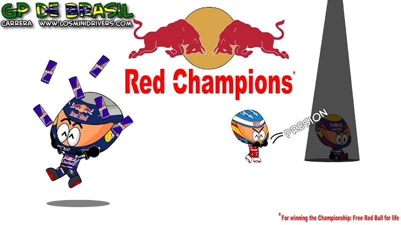 Red Bull становятся чемпионами на Гран-при Бразилии 2010