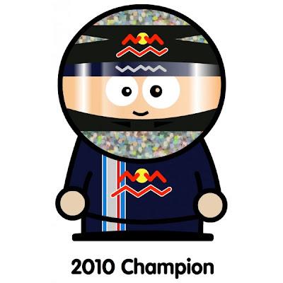 Себастьян Феттель чемпион 2010 Unlap Гран-при Абу-Даби 2010