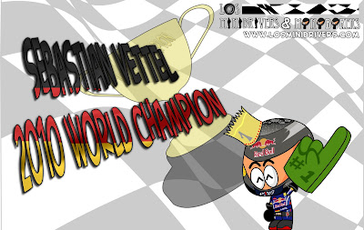 Себастьян Феттель берет титул 2010 на Гран-при Абу-Даби 2010