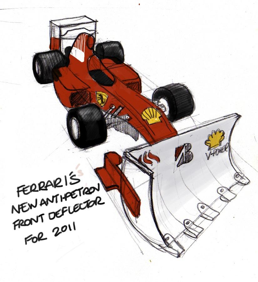 новый антипетров-дефлектор Ferrari для сезона 2011