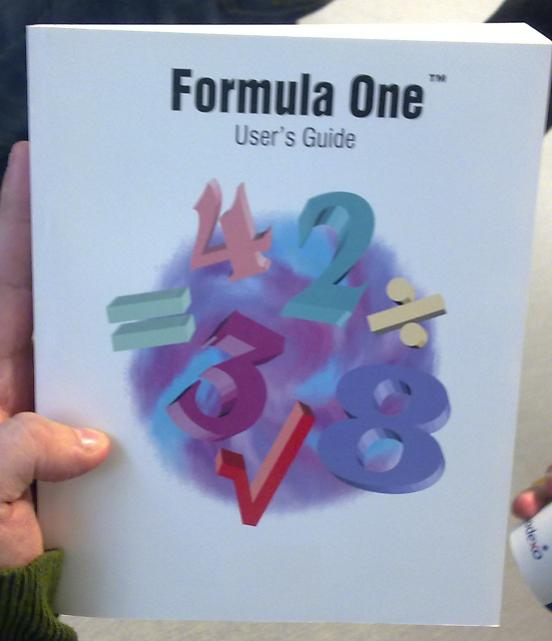 Formula One User_s Guide