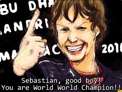 Себастьян Феттель берет титул на Гран-при Абу-Даби 2010
