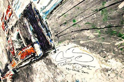 подпись Дженсона Баттона на картине