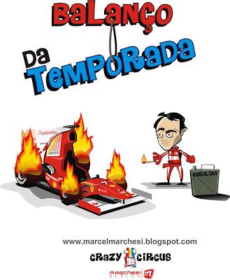 Фелипе Масса поджигает свою резину
