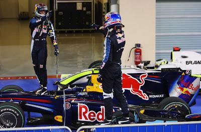 Себастьян Феттель и Марк Уэббер на Гран-при Абу-Даби 2009