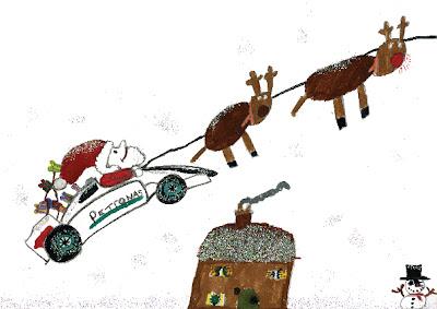 Рождественская открытка Mercedes GP