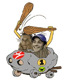 Кристиан Клиен и Бруно Сенна Wacky Races