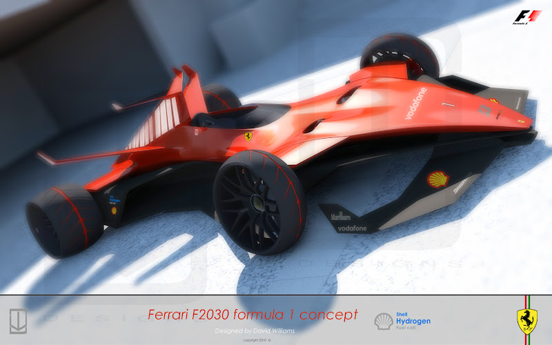 концепт болида будущего Ferrari by David Williams