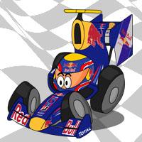 Марк Уэббер в болиде Red Bull