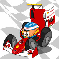 Фернандо Алонсо в болиде Ferrari