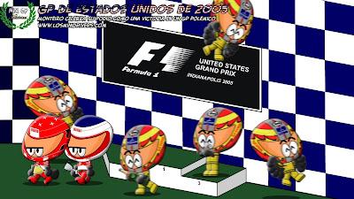 Тьяго Монтейро на подиуме Гран-при США 2005