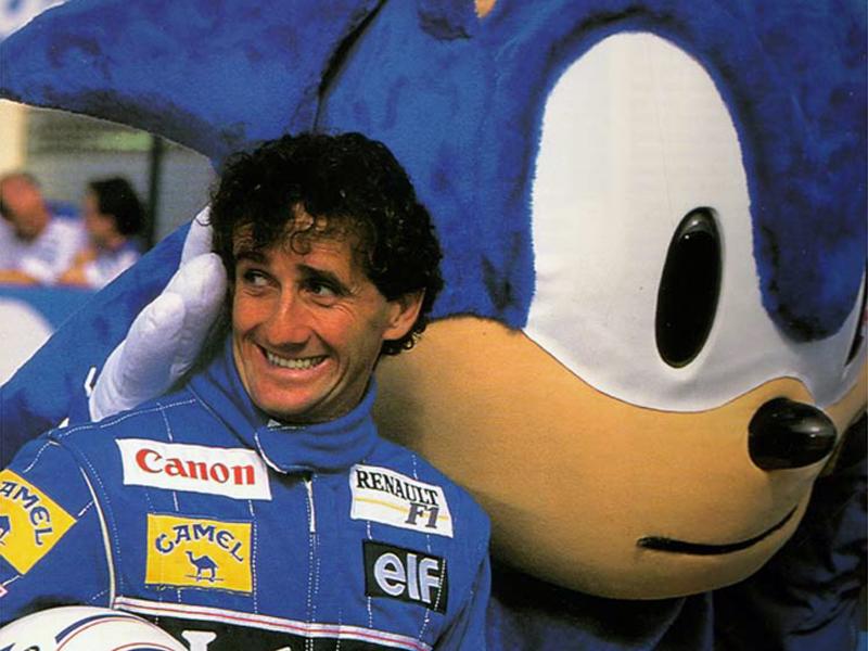 Алан Прост и Sonic на Гран-при ЮАР 1993