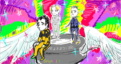 карикатура Роберт Кубица Нико Росберг и Себастьян Буэми на покрышке Bridgestone