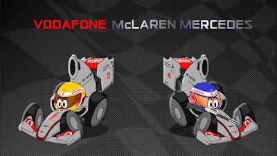Льюис Хэмилтон и Дженсон Баттон McLaren 2011 Los MiniDrivers