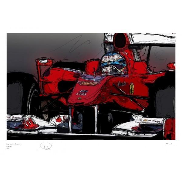 Фернандо Алонсо Ferrari 2010 by Unlap