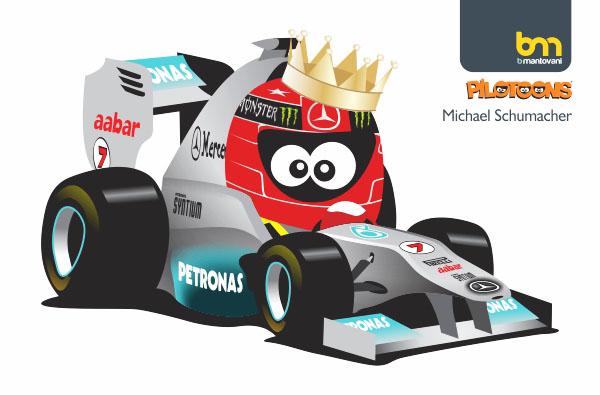 Михаэль Шумахер Mercedes GP 2011 pilotoons