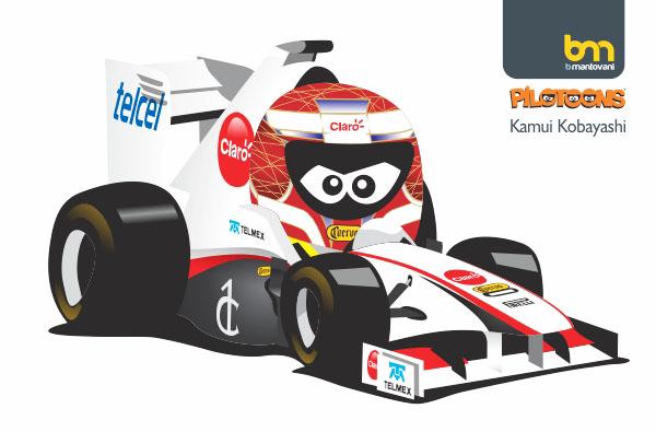 Камуи Кобаяши Sauber 2011 pilotoons