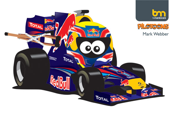 Марк Уэббер Red Bull 2011 pilotoons