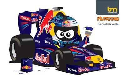 Себастьян Феттель Red Bull 2011 pilotoons