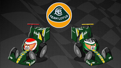 Ярно Трулли и Хейкки Ковалайнен  Team Lotus 2011 Los MiniDrivers