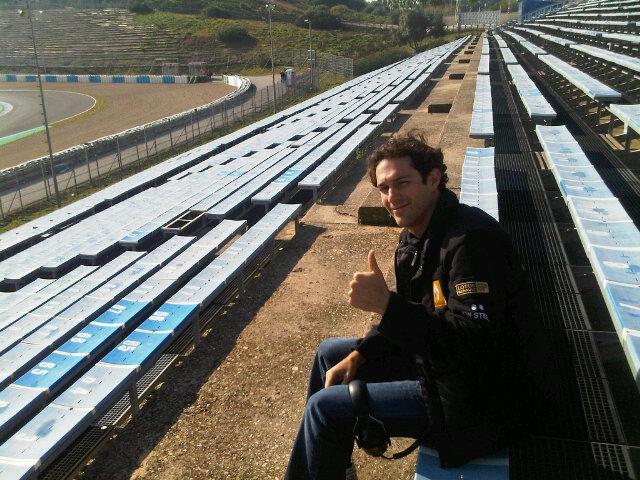 Бруно Сенна на тестах в Хересе 2011