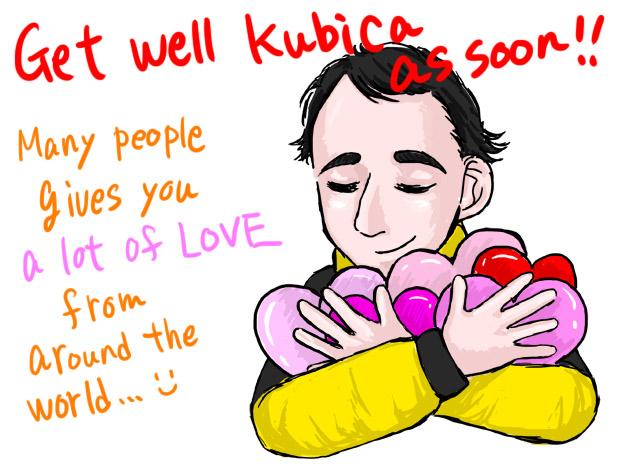 пожелание скорейшего поправления Роберту Кубице на День Святого Валентина
