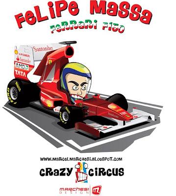 Фелипе Масса Ferrari 2011 карикатуры Marchesi Design