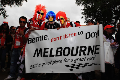 Bernie do not listen to Doyle Melbourne still a great place for a great race