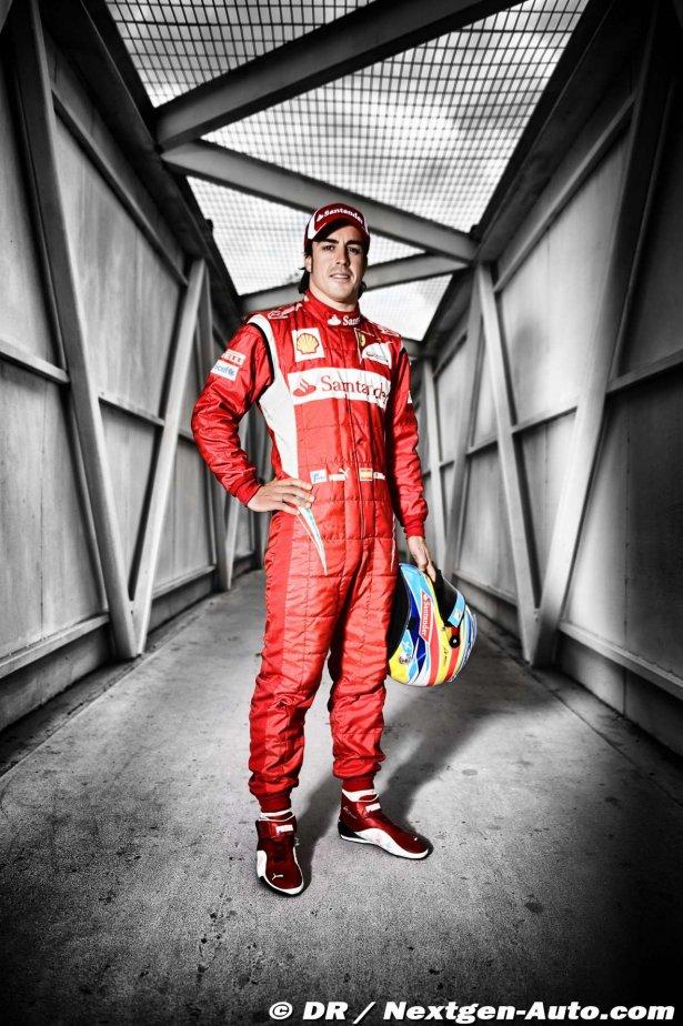 стена в гараже Ferrari с Фернандо Алонсо