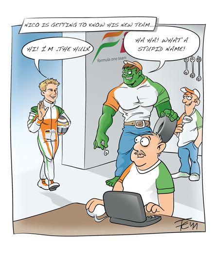 Нико Хюлькенберг пришел познакомиться со своей новой командой Force India