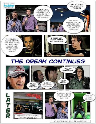 Lotus берет дубль в Гран-при фотокомикс от F1cartoonz