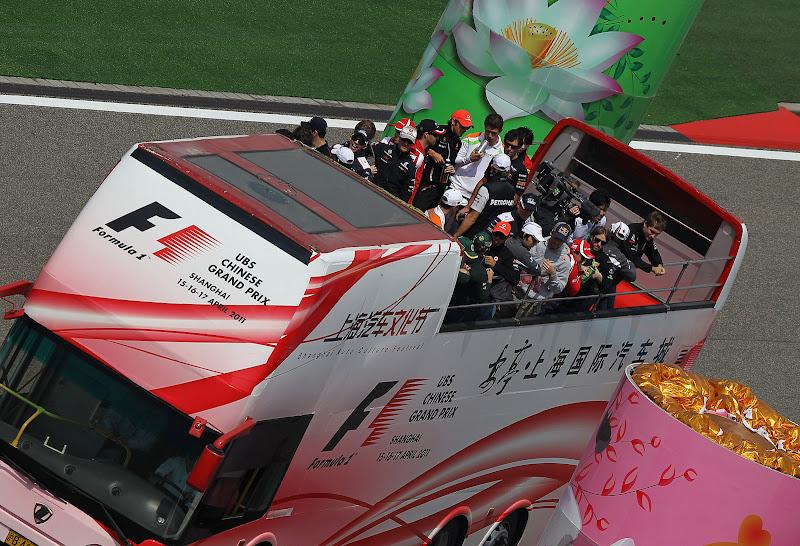 парад пилотов на Гран-при Китая 2011