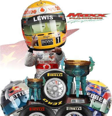 Льюис Хэмилтон побеждает над резиной Pirelli и Себастьян Феттель и Марк Уэббер остаются позади на Гран-при Китая 2011 Maxx Racing