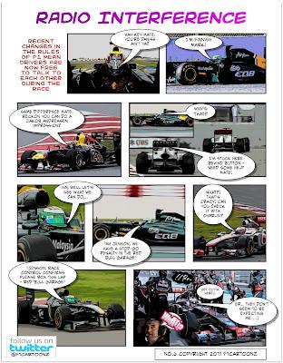 комикс про радиообмен от F1cartoonz