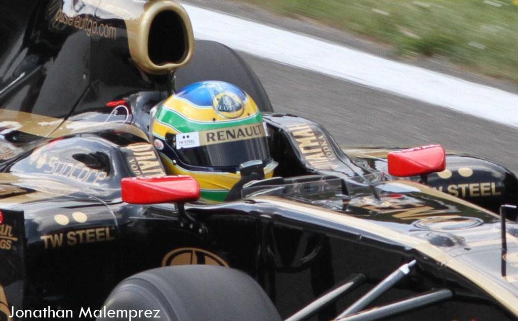 Бруно Сенна Lotus Renault Спа видео