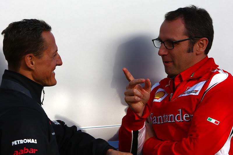 Михаэль Шумахер и Стефано Доменикали на Гран-при Турции 2011