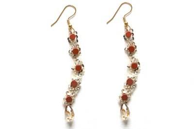 Emma Cassi carnelian earrings