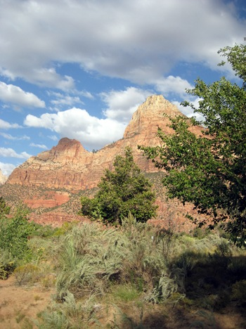 Sandstone bluffs at Zion